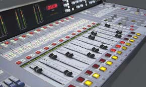 Multi-Track Audio Mixing Console